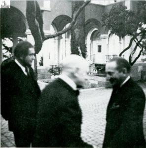Renato Brozzi al Vittoriale con Gabriele D'Annunzio